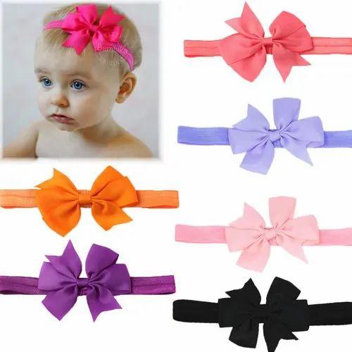 d6848602f Bembika Grosgrain Ribbon Hair Bows Headbands for Baby Girls Infants ...