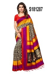 Multi Coloured Bhagalpuri Silk Saree