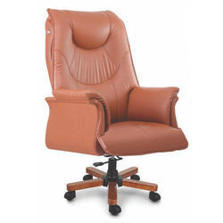 Leather CEO Chair, 5, Orange