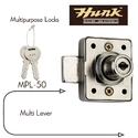 Hunk Multipurpose Lock Mpl-50