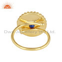 Natural Lapis Lazuli Gemstone Handmade Gold Plated 925 Silver Rings