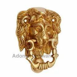 Lion Brass Door Knocker