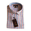 Mens Cotton Check Formal Shirt