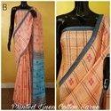 Indian Ethnic Designer Printed Cotton Linen Saree