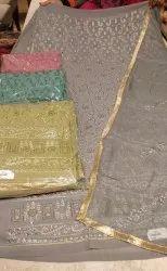 Fabric Georgette With Shiffon Dupatta