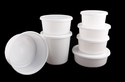 Round White Containers