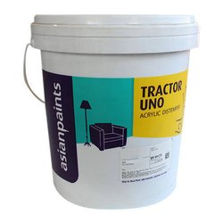 Matt White Asian Tractor Uno Emulsion Paint, For Exterior, Packaging Type: Bucket