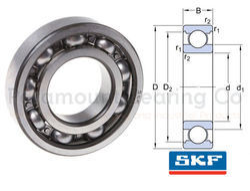 6319 C3 SKF Deep Groove Ball Bearings, Single Row