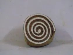 Round Candy Shaped Wooden Printing Blocks