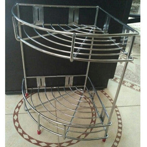 Steel Corner Kitchen Rack Stand