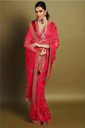 Pink Wedding Deepika Padukone Bollywood Saree, Rs 999 ...