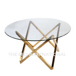 Decorative Coffee Table with Golden Finish