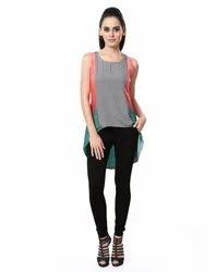 Sleeveless Multi Colour Top