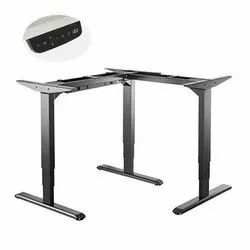 Black 3-Stage Reverse Triple Motor l Shaped Electric Sit-Stand Desk Frame