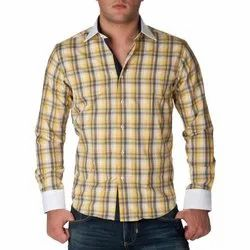 Collar Neck Full Sleeves Mens Check Shirt