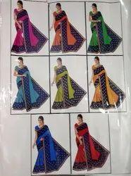 Ladies Designer Jai Pure Prent Sarees