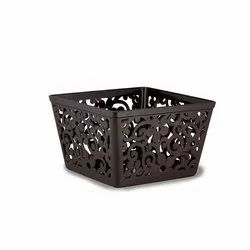 LIGHT COLORS Plastic Fancy Basket RATAN, Design