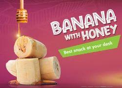 Saaral Foods Basic Indian Banana Nendhiram With Honey Fruit Snack, Packaging Type: Box