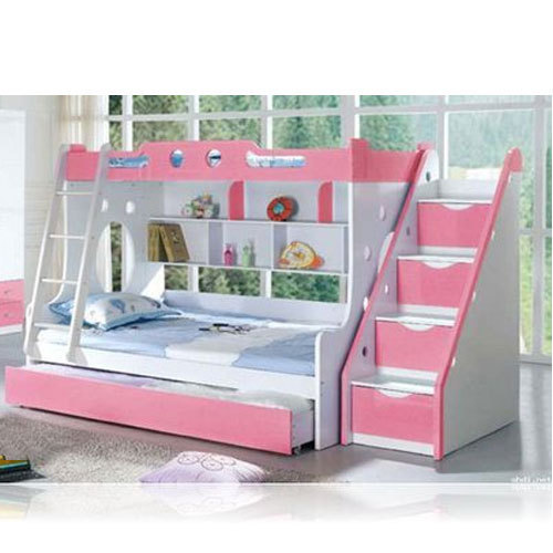 Pink And White Wooden Pull Out Bunk Bed Rs 39000 Unit Janalaxmi Designs Id 20378834912