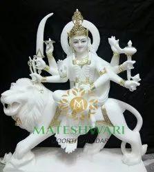 Marble Sherawali Mata Murti