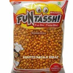 Funtassh Masala Roasted Wheat Namkeen, Packaging Size: 200 Grams, Packaging Type: Packet