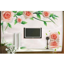 Flower Design Wall Covering
