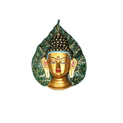 Brass Leaf Buddha Statue