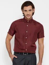 Men's Maroon Formal Shirts
