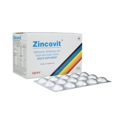 Zincovit Multivitamin, Multimineral with Grape Seed Extract Tablet, 15 tab/strip