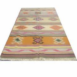 Cotton Durrie Handloom Cotton Flat Weave Rug Asian Rug Indian Cotton Carpet