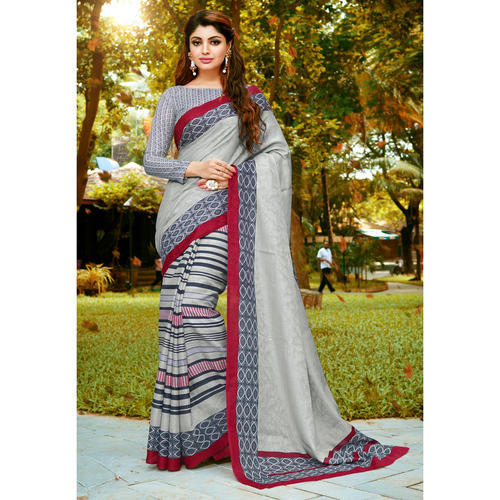Silk Printed Casual Wear Bhagalpuri Saree