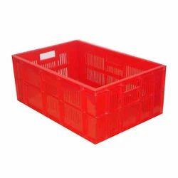 3N Rectangular Red Vegetable Plastic Crate for Storage, Capacity: 15 Liter