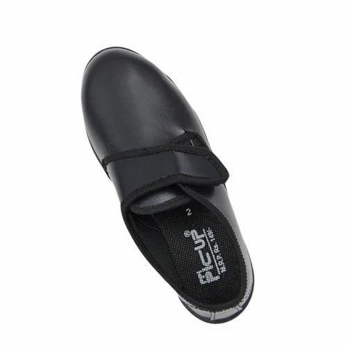 Black Boys Velcro School Shoes, Rs 65