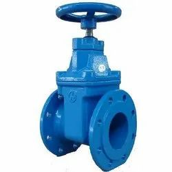 250mm Cast Iron Double Flange Sluice Valve