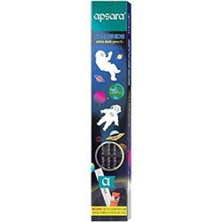 Black Wood Apsara Space Kid Pencil