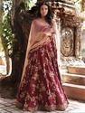 Indian Ethnic Designer Malai Satin Heavy Embroidered Bridal Lehenga Choli