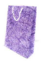 Handmade Paper Purple And White Gift Bag