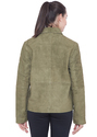 Suede Leather Jacket - Women