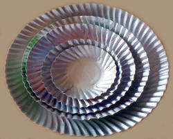 Silver Wrinkle Paper Plate