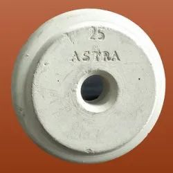 White 25mm Round Concrete Cover Block, Packaging Type: Bag