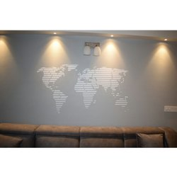 Cool White Up-Down Wall art Service