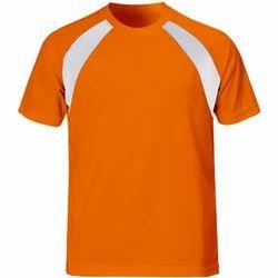 Cotton Plain Mens Sports T Shirts
