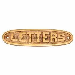 Letters Brass Sign