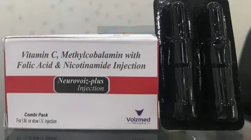 Neurovoiz Plus Vitamin C,Methylcobalamin With Folic Acid And Nicotinamide Injection