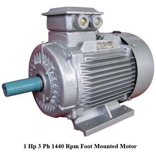 1 Hp 3 Ph 1440 Rpm Foot Mounted Motor