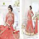Designer Faux Georgette Embroidery Anarkali Suit