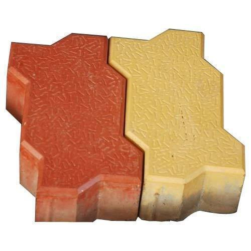 Red And Yellow Outdoor Zig Zag Paver Block, for Pavement