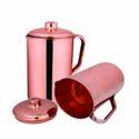 Emboss SS Copper Fridge Bottle