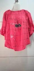 Designer Cotton Red Top