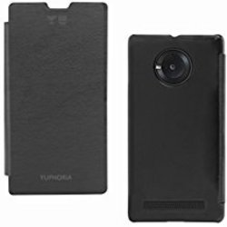 DMG Easy Snap-On Flip Cover Case for Micromax Yuphoria